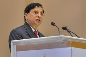 Chief Justice Dipak Misra addresses during a conference in New Delhi.