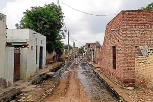 The streets of Mirchpur village in Hisar wear a deserted look since the Delhi high court verdict.