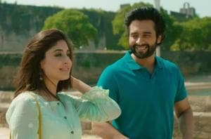 Jackky Bhagnani and Kritika Kamra in a still from Mitron. The film has a revamped version of Pakeezah's Chalte Chalte.
