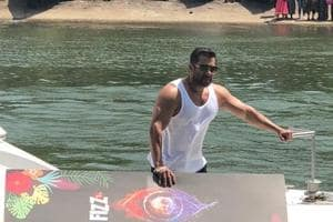 For Bigg Boss 12 launch in Goa, Salman Khan arrived on a boat.
