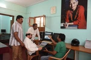 Members of Gauri Media Trust Ltd seen working on a dummy newspaper as tomorrow on the occasion of the 1st death anniversary of the slain journalist Gauri Lankesh they will launch a new newspaper called