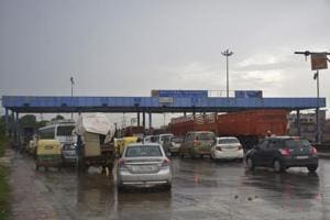 A view of the Dasna toll plaza in Ghaziabad.