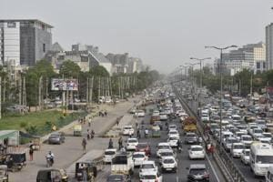 The 5.5 km elevated corridor is expected to  decongest Sohna Road.