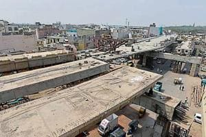 The Rani Jhansi grade separator was conceived in 1998.  (Sanchit Khanna/HT Photo)