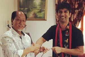 Sushant Singh Rajput poses with Nagaland CM, Neiphiu Rio.