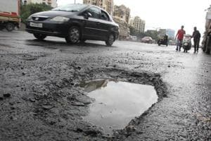 Potholes on the eastern express highway road near Jupiter Hospital continue to be a source of trouble for commuters.