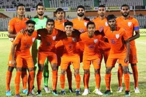 India scored a goal in each half against Sri Lanka in their SAFF Cup.