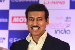 Indian sports minister Rajyavardhan Singh Rathore