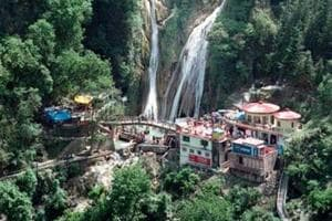 The Kempty Falls at Mussoorie.