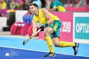 Eddie Ockenden in action for Australia during the 2018 Commonwealth Games.