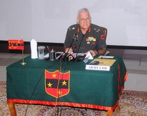 Lt general DR Soni, army commander, Southern Command.