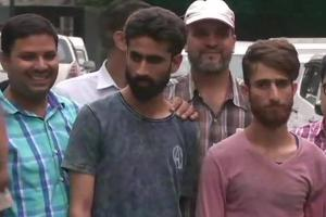 The two persons, hailing from Kashmir, was arrested near the Red Fort area on the intervening night of Thursday and Friday.