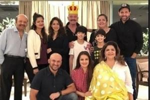 Hrithik Roshan shared pictures from his dad RakeshRoshan's birthday as Instagram stories.