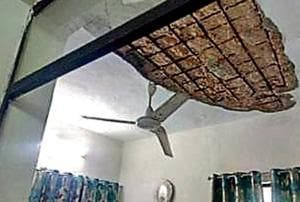 The living room in the Nehru Nagar government flat.