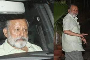 Pankaj Kapoor visits Mira Rajput and grandson at Hinduja hospital, Mumbai.