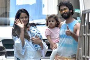 Watch   Shahid Kapoor, Mira Rajput bring newborn son Zain home
