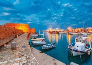 Crete is the largest island in Greece, where your martini would cost 4 euros, as opposed to 10 in Santorini