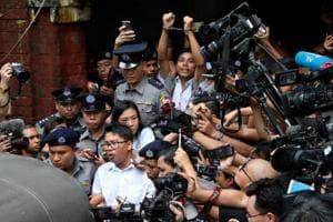 Photos of the week: Myanmar journalists sentenced and Typhoon Jebi hits Japan