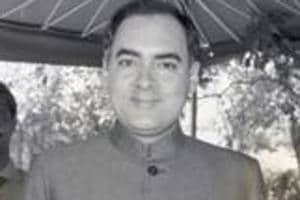 Former prime minister Rajiv Gandhi in New Delhi.