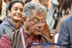 Actor, film director, writer and playwright Girish Karnad during the Inauguration of Jaipur literary festival 2016, in Jaipur, India.
