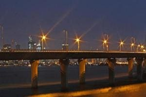 The Bandra-Worli sea link in Mumbai. The Maharashtra government recently signed an agreement with a consortium to build the 17.17km Versova-Bandra Sea Link from October.