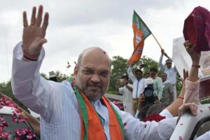 BJP National President Amit Shah during his earlier visit to Jaipur.