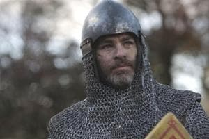 This image released by Netflix shows Chris Pine in a scene from David Mackenzie's Robert the Bruce epic Outlaw King, premiering on November 9.