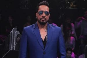 Singer Mika Singh on the sets of reality television show Dance Deewane in Mumbai.