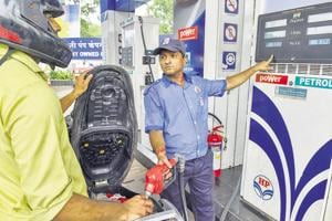 Rising fuel prices was one of the reasons for Opposition protest. (PTI Photo)