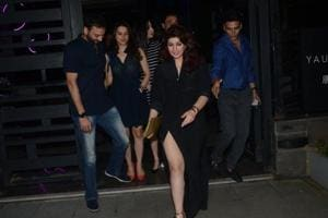 Akshay Kumar celebrated his birthday with wife Twinkle Khanna and friends at Mumbai's Bandra Kurla Complex.