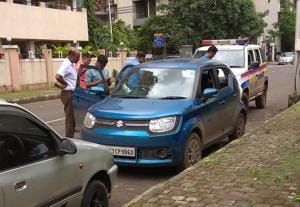 A car with blood stains was found at Airoli in Navi Mumbai on Friday.