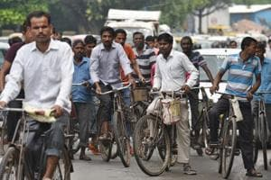 An estimated 11% of Delhi's working population cycles to work, but the city is not friendly to bicyclists.