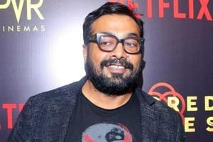 Director Anurag Kashyap at the special screening of film Sacred Games in New Delhi.
