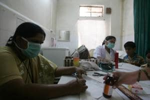Swine flu ward at Aundh general hospital