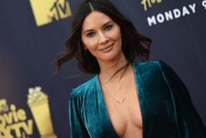 Olivia Munn attends the 2018 MTV Movie & TV awards, at the Barker Hangar in Santa Monica on June 16, 2018.