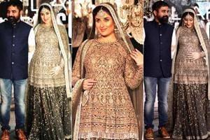 Fashion designer Sabyasachi Mukherjee with actor Kareena Kapoor Khan at Lakme Fashion Week 2016.  Sabyasachi's lavish Kolkata mansion is decorate in his signature vintage glam style.  (File Photos)