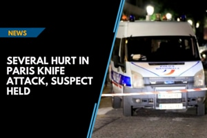 Several hurt in Paris knife attack, suspect held