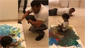 Salman Khan and nephew Ahil enjoyed a fun day together on Sunday.