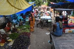 Vegetable vendors have fully encroached the JCRoad.