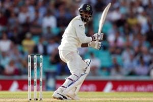 KL Rahul in action on Day 4 of the fifth Test between India and England at the Oval.