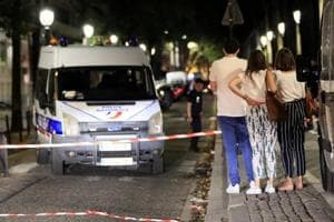Police secures the area after seven people were wounded in knife attack downtown Paris, France, September 10, 2018.