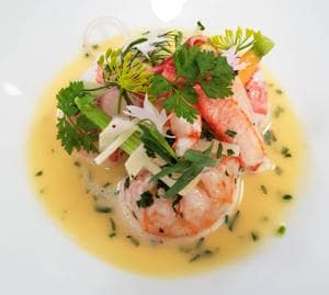 Aromatic Nage of Dublin Bay Prawns