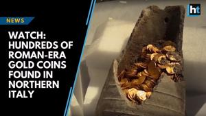 Watch: Hundreds of Roman-era gold coins found in northern Italy