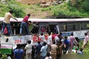 At least 40 people, including 25 women, wer feared dead in a bus accident in Telangana on Tuesday.