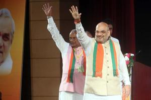 BJP national president Amit Shah with party