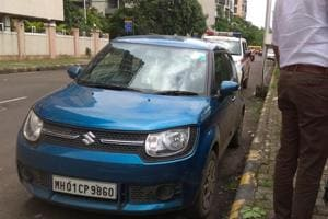 A car with blood stains was found at Sector -11 Kopar Khairane in Navi Mumbai, India, on Friday, September 7, 2018.