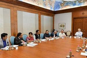 Prime Minister Narendra Modi reviews the preparations for the launch of Health Assurance programme under Ayushman Bharat, in New Delhi on August 4.