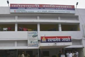 A file photo of Sahibabad Police Station in Ghaziabad.