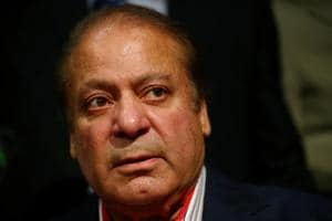 Former Pakistan prime minister of Pakistan, Nawaz Sharif, speaks during a news conference at a hotel in London, Britain on July 11.