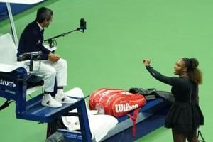 Serena Williams' argument with chair umpire Carlos Ramos while playing Naomi Osaka of Japan during their 2018 US Open women